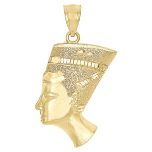 Jewelry For Less 10k Yellow Gold Nefertiti Egyptian Queen Pendant Mens Ladies 1.5 Charm 3.3 Gr