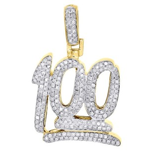 Jewelry For Less 10k Yellow Gold Number Emoji Character Diamond Pendant Mens 1 Charm 12 Ct.