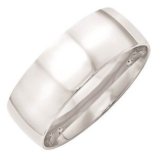 Jewelry For Less 8mm 10k White Gold Comfort Fit Or Half Round Wedding Ring Band -