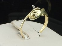 Ladies 10k Yellow Gold Dolphin Diamond Engagement Fashion Cocktail Ring .03 Ct.
