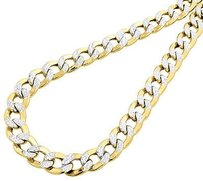 10k,Yellow,Gold,Chiseled,Cuban,Curb,Chain,Dc,Pave,10.75,Mm,Necklace,22-30