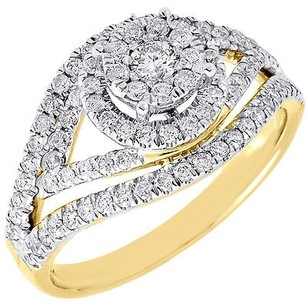Diamond Wedding Ring Ladies 14k Yellow Gold Round Cut Engagement Band 34 Tcw