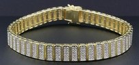 Jewelry For Less Statement Diamond Bracelet Mens Sterling Silver 7.25 Pave Round Cut Ct.