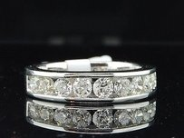 Ladies 14k White Gold 1ct. Round Diamond Engagement Ring Wedding Band Bridal Set