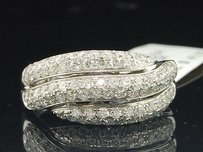 Diamond Wedding Band 14k White Gold Ladies Round Cut Anniversary Ring 1 Ct.