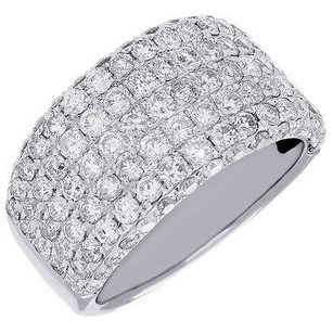 Diamond Engagement Wedding Band 14k White Gold Ladies Round Cut Ring 2.80 Ct.