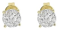 Jewelry Unlimited 14k,Yellow,Gold,Mens,Ladies,Round,Diamond,Solitaire,5.5mm,Earrings,Studs,0.64,Ct