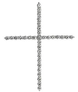 Jewelry Unlimited 10k,Yellow,Gold,Round,Diamond,Shared,Prong,1.6,Inch,Cross,Pendant,Charm,1,Ct