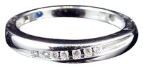 Jewelry Unlimited 10k,White,Gold,Mens,Genuine,Round,Channel,Set,Diamond,Wedding,Band,Ring,4mm