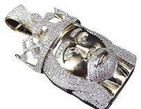Jewelry Unlimited Real,10k,Yellow,Gold,Genuine,Diamond,3d,Crowned,Jesus,Piece,Pendant,2.0ct,2.0