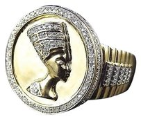 Jewelry Unlimited Rare,10k,Yellow,Gold,Genuine,Diamond,Presidential,Band,King,Pharaoh,Ring,1.0ct