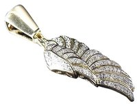Jewelry Unlimited Real,10k,Yellow,Gold,Genuine,Diamond,Mini,Wing,Of,An,Angel,Pendant,.40ct,1.25