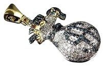 Jewelry Unlimited 10k,Yellow,Gold,Genuine,Blue,Diamond,2,Tone,Money,Bag,Pendant,1.25ct,1.50