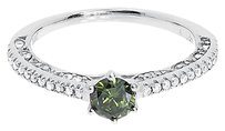 Jewelry Unlimited 14k,White,Gold,Fancy,Green,Diamond,Solitaire,Engagement,Wedding,Ring,0.78,Ct