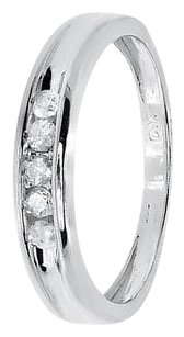 Jewelry Unlimited White,Gold,Finish,Mens,Round,Channel,Diamond,Wedding,4mm,Band,Ring,0.25,Ct