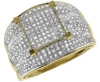 Jewelry Unlimited Xl,10k,Yellow,Gold,Ladies,Round,Pave,Diamond,Bridal,Engagement,Ring,1.40,Ct