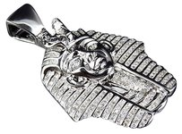 Jewelry Unlimited 10k,White,Gold,Egyptian,Pharaoh,King,Tut,Genuine,Diamond,Pendant,1.25,Ct