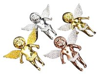 Jewelry Unlimited Real,Diamond,Angel,Pendant,Charm,In,Yellow,White,Or,Rose,Gold,Finish,.75,Ct,1.5