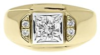 Jewelry Unlimited 14k,Yellow,Gold,Mens,Round,Solitaire,Diamond,Wedding,Fashion,Band,Ring,0.80,Ct