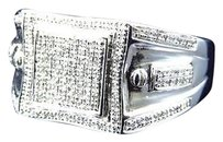 Jewelry Unlimited 10k,White,Gold,Genuine,Diamond,Illusion,Style,Fashion,Pinky,Ring,0.60,Ct,13mm