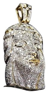 Jewelry Unlimited Genuine,Diamond,Flooded,Jesus,Piece,Pendant,Charm,In,10k,Yellow,Gold,2.0ct,1.25