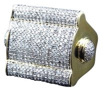 Jewelry Unlimited 10k,Yellow,Gold,Layer,Pave,Bar,Real,Diamond,Fashion,Pinky,Ring,1.5,Ct,25.25,Mm