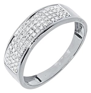 Jewelry Unlimited 10k,White,Gold,Mens,Pave,Round,Diamond,7mm,Wedding,Fashion,Band,Ring,0.25,Ct