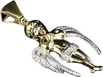 Jewelry Unlimited 10k,Yellow,Gold,Genuine,Diamond,Ascending,Angel,2.0,Pendant,Charm0.40ct