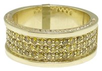 Jewelry Unlimited Mens,10k,Yellow,Gold,Canary,Diamond,Engagement,Fashion,Wide,Band,Ring,1.5,Ct