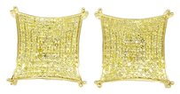 Jewelry Unlimited Mens,Ladies,10k,Yellow,Gold,Kite,Prong,15,Mm,Diamond,Pave,Stud,Earrings,.75,Ct