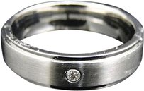 Jewelry Unlimited Mens,Shiny,Stainless,Steel,316,Diamond,Wedding,Engagement,Band,Ring,6,Mm