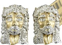Jewelry Unlimited 10k,Yellow,Gold,20,Mm,Diamond,Pave,Jesus,Face,Head,Stud,Earrings,1.35,Ct