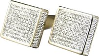 Jewelry Unlimited Mens,Ladies,10k,Yellow,Gold,12mm,Diamond,Pave,Xl,3d,Block,Stud,Earrings,0.80,Ct