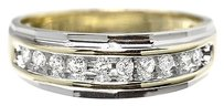 Jewelry Unlimited 10k,Gold,Mens,Two,Tone,Round,Diamond,7mm,Wedding,Band,Ring,0.25ct