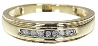 Jewelry Unlimited 10k,Mens,Yellow,Gold,Round,Diamond,Wedding,Band,Ring,5mm
