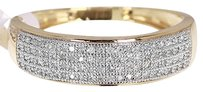 Jewelry Unlimited 10k,Yellow,Gold,Mens,Round,Diamond,Pave,Wedding,Band,Ring,0.40ct,7mm