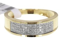 Jewelry Unlimited 10k,Mens,Yellow,Gold,Round,Diamond,Pave,Wedding,Band,Ring,0.40ct,7mm