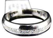 Jewelry Unlimited 14k,Mens,White,Gold,Princess,Si,Diamond,Invisible,Wedding,Band,Ring,1,Ct