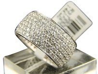Jewelry Unlimited 14k,Mens,Ladies,Eternity,Pave,6,Row,Diamond,Band,4.0,Ct
