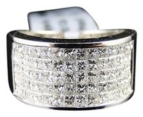 Jewelry Unlimited 2.5,Ct,Ladies,Womens,14k,White,Gold,Princess,Cut,Diamond,Wedding,Pinky,Band,Ring