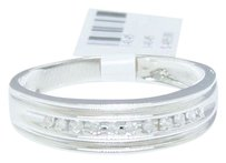 Jewelry Unlimited 110,1.25,Ct,125ct,Hommes,10k,Or,Blanc,Rond,Diamant,6mm,Channel,Set,Bague