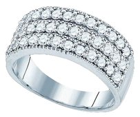 Jewelry Unlimited Womens,Or,Mens,1,Ct,3,Row,8.5,Mm,Genuine,Diamond,Wedding,Band,Engagement,Ring