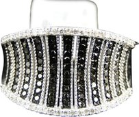 Jewelry Unlimited 10k,Ladies,White,Gold,Black,And,White,13,Mm,Diamond,Fashion,Promise,Band,Ring