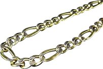 Jewelry Unlimited 10k,Yellow,Gold,Diamond,Cut,Figaro,Style,Box,Chain,Necklace,6.5,Mm,18-24,Inches
