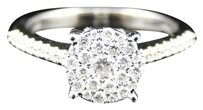 Jewelry Unlimited 10k,Ladies,White,Gold,Diamond,Fashion,Cluster,Engagement,Wedding,Ring,12,Ct