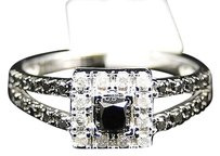 Jewelry Unlimited Ladies,10k,White,Gold,Diamond,Halo,Soliatire,Engagement,Fashion,Ring,.58,Ct