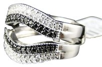 Jewelry Unlimited 10k,Ladies,White,Gold,Black,Diamond,Engagement,Solitaire,Ring,Jacket,Band,.55,Ct