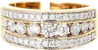 Jewelry Unlimited Ladies,Channel,Set,Round,Diamond,11,Mm,Wedding,Band,Ring,In,14k,Yellow,Gold,2,Ct