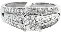 Jewelry Unlimited Ladies,Round,Cut,Pave,Set,Diamond,Engagement,Ring,In,10k,White,Gold,0.50,Ct