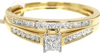Jewelry Unlimited Ladies,Princess,Cut,Solitaire,Diamond,Engagement,Wedding,Ring,In,10k,Yellow,Gold